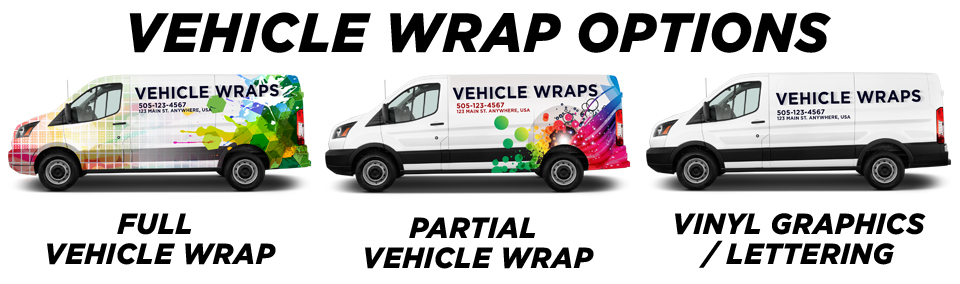Santa Ana Vehicle Wraps & Graphics vehicle wrap options