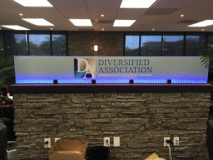 custom lighted indoor sign